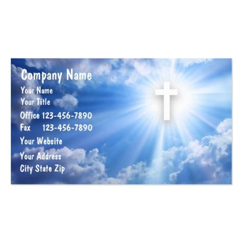 christian business cards templates free religious business card templates bizcardstudio