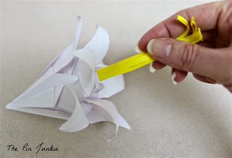 How To Make Paper Lilies - origami paper lilies