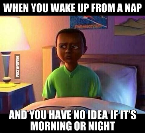 Nap Meme - when you wake up from a nap humoar com