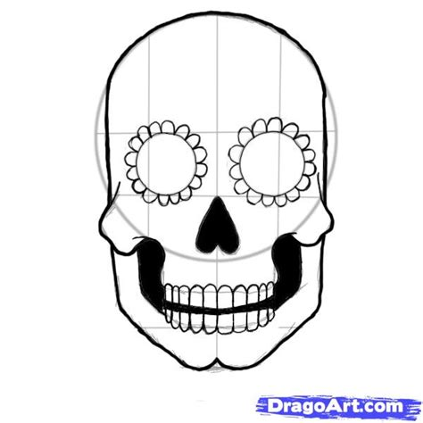 blank sugar skull template how to draw a sugar skull step by step skulls pop culture free drawing tutorial