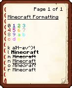 minecraft color text formatting codes official minecraft wiki