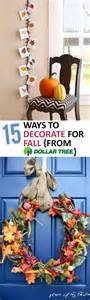 ways to decorate for fall 15 ways to decorate for fall from dollar tree
