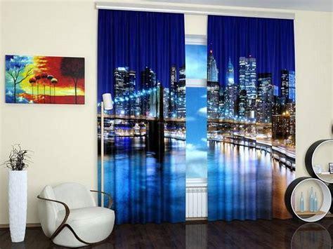 custom photo curtains adding digital prints to kids room window curtains to enhance modern interior design with