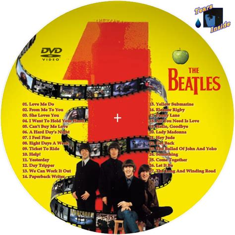 Cd The Beatles One Deluxe Dvd Imported Usa the beatles 1 ザ ビートルズ 1 cd dvd tears inside の 自作 cd dvd ラベル