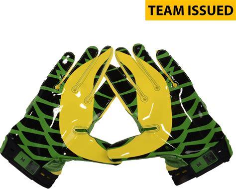 Tshirtkaaos Nike Ducks Football oregon ducks team issued green and yellow quot duckhead quot superbad nike football gloves size l