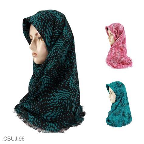Jilbab Batik jilbab rawis segiempat doublehicon motif sparkle jilbab