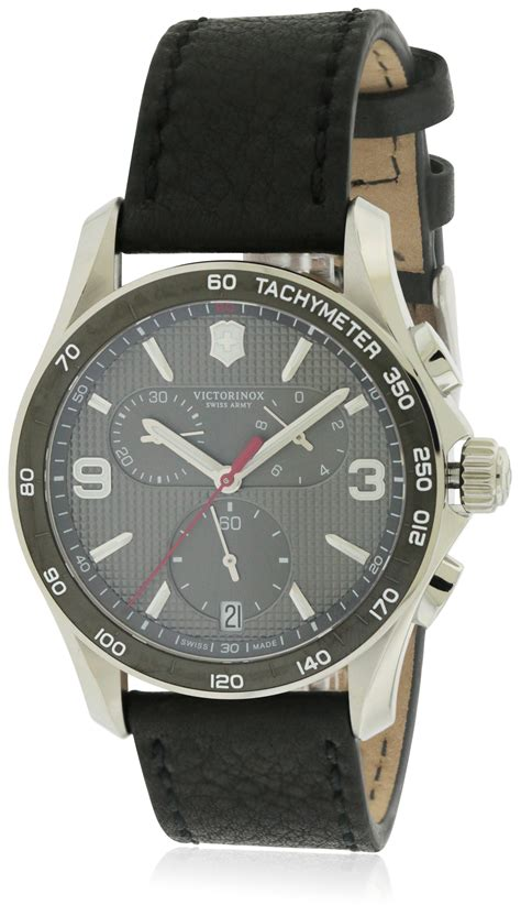 Swiss Army Date Leather Original swiss army victorinox chrono classic leather chronograph