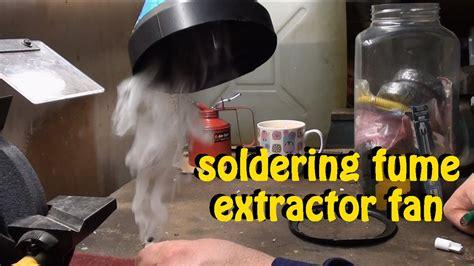 build  diy soldering fume  smoke extractor fan