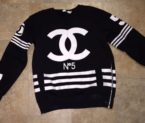 Coco Channel Rainbow Tshirt homme femme la hockey sweater coco chanel no 5 worn once