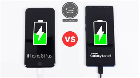 iphone 8 plus vs galaxy note 8 battery fast charging speed test