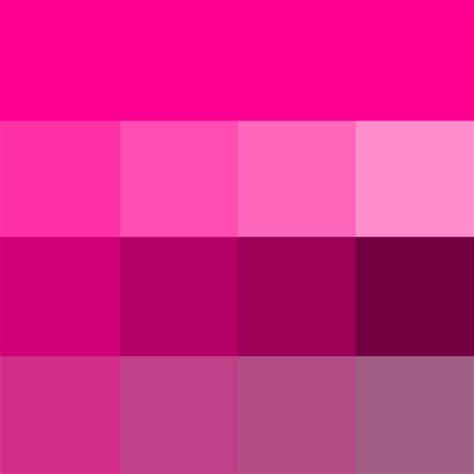 pink color shades magenta web hue tint and shade fuchsia fascination