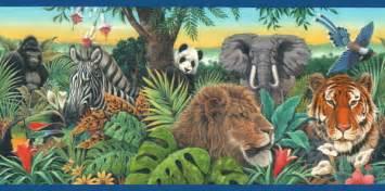 Forest Scene Wall Mural jungle animals cliparts co