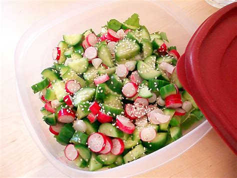 sunday potluck cucumber and radish salad i can boil