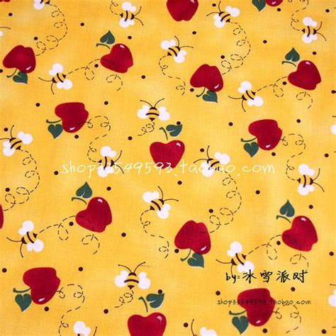 good 1pc 160 50cm cotton jersey fabric 100 organic cotton 105 50cm 1pc 100 cotton fabric red apple bees printed
