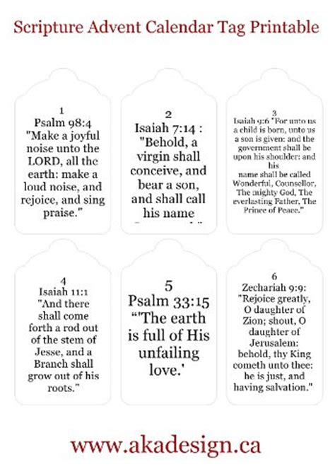 printable scripture quotes scripture advent calendar