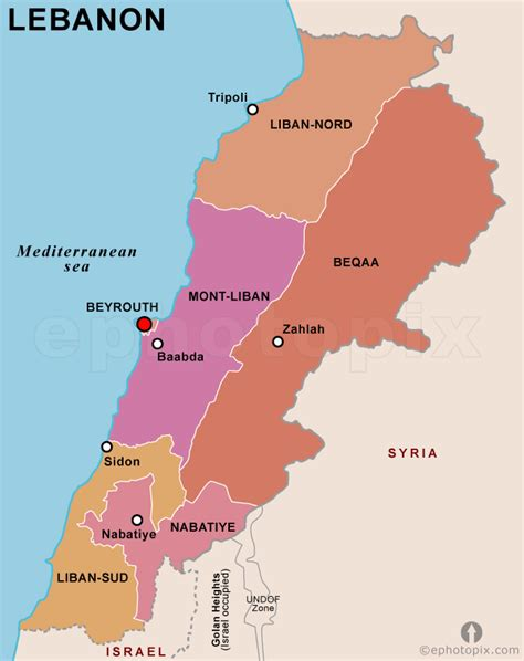 map of lebanon lebanon governorate map governorate map of lebanon