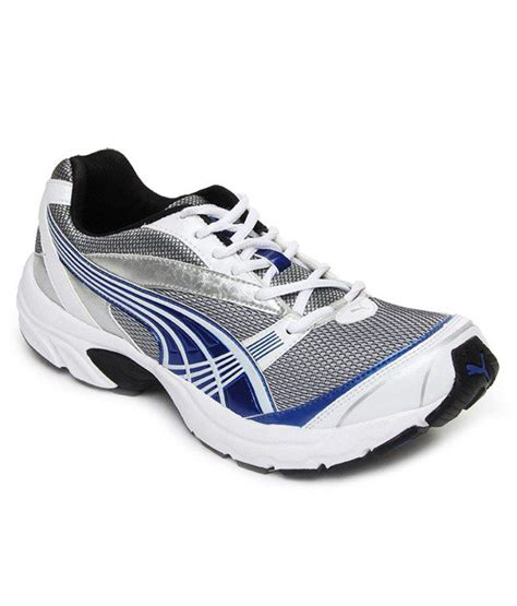 velocity white running shoes snapdeal price sports