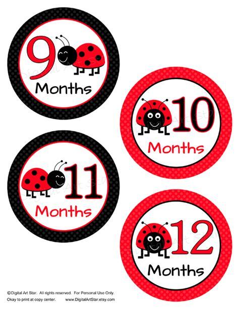 printable bug stickers digital art star printable party decor ladybug baby