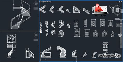 free cad stairs autocad blocks free dwg 187 cadsle
