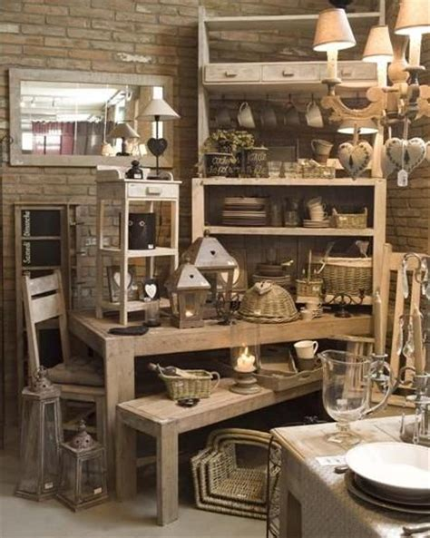 home design store multi layers visual merchandising for a shabby chic home decor store shelving and tables make