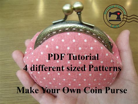 sewing pattern purse frame 4 pieces frame purse pdf sewing pattern by lypatterns on etsy