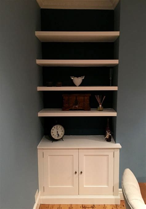 Cupboard Shelving - bespoke alcove cabinet with floating shelves this was
