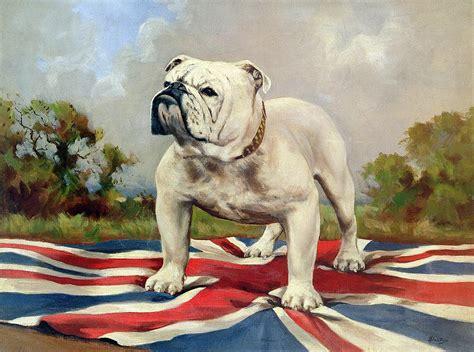 Union Jack Home Decor british bulldog painting by english school
