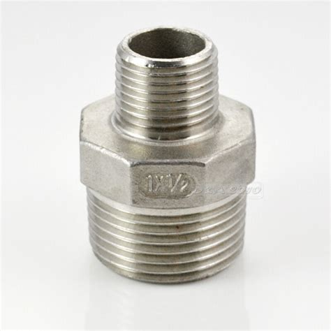 Reducer Con Stainless hex 1 quot x 1 2 quot stainless steel 304 threaded