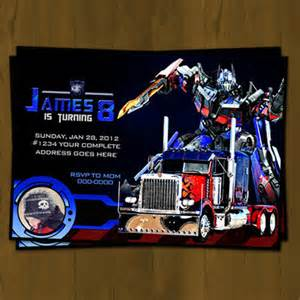 optimus prime transformers birthday invitation 183 splashbox printables 183 store powered by