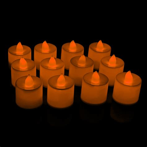 24 X Flameless Flickering Led Tea Light Candles 24 X Flameless Led Candles Flickering Tea Lights Battery Operated Wedding Home Ebay