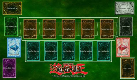 Yugioh Card Zone Template by Yu Gi Oh Playmat V2 By Clannadat On Deviantart