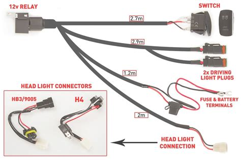 driving light wiring harness diagram driving light wiring