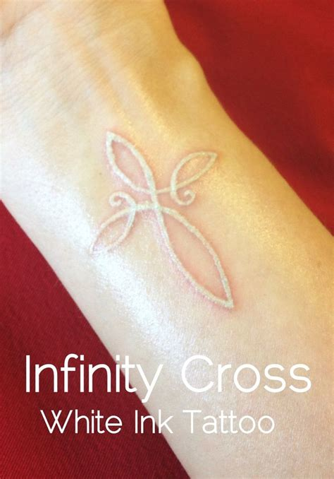 infinity tattoo in white ink beautifully done white ink tattoo of an infinity cross