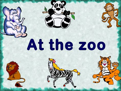 powerpoint templates zoo free animal 5th grade