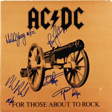 ac dc album by album books lot detail ac dc signed record album quot for those