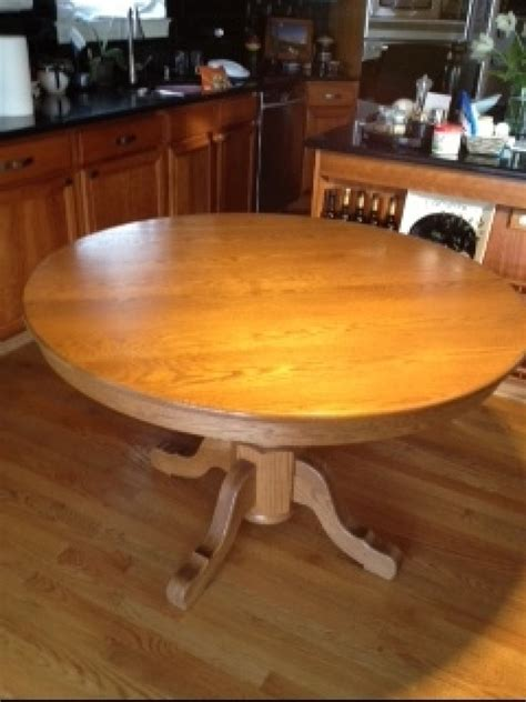 Solid Oak Kitchen Table And Chairs by Amish Made Solid Oak 48 Inch Table With 4 Solid Oak Chairs