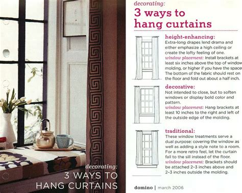 how to properly hang curtains 3 ways to hang curtains how to for the home pinterest