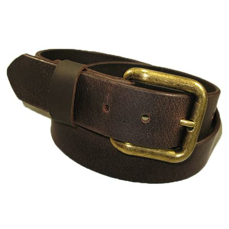 Handmade Mens Leather Belts - zelikovitz mens genuine solid buffalo leather belt
