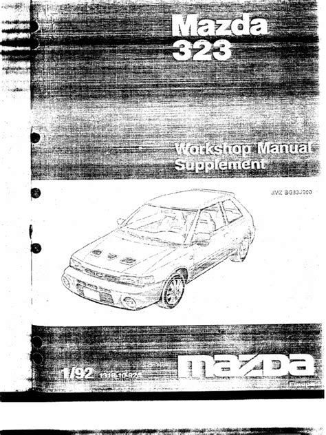 1991 mazda 323 original repair shop manual 91 ebay 1992 gtr supp