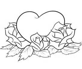 roses to color roses and hearts coloring pages az coloring pages