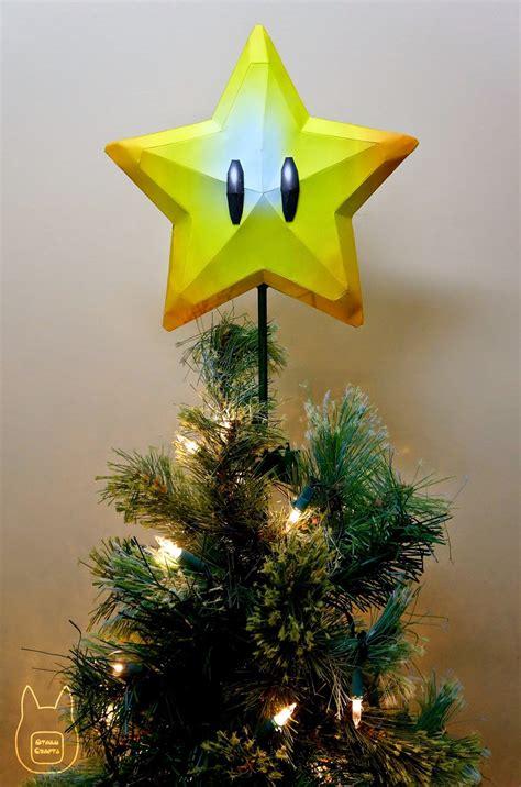 super mario star christmas tree topper otaku crafts mario tree topper papercraft