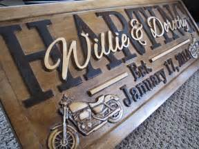 Motorcycle Decorations Personalized Motorcycle Wedding Gift Family Name Signs