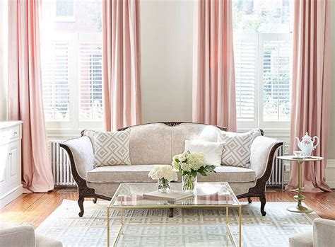 home inspiration decorating  blush pink living room