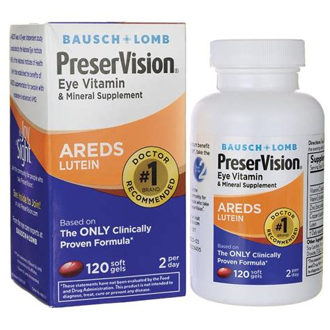 Vitamin Lutena bausch lomb preservision areds lutein 120 sgels swanson health products