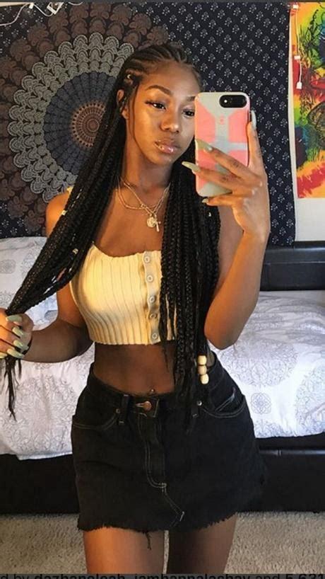 black braid hairstyles