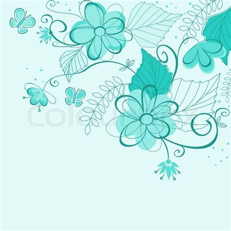 Sm Home Decor by Blue Abstract Floral Background For Textile Or Invitation