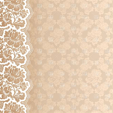 floral victorian wallpaper with lace border 18741