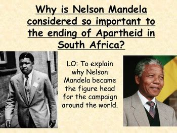 biography of nelson mandela ppt why was nelson mandela so important in south africa