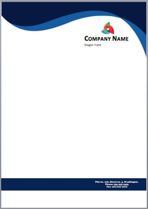 Dark Blue Letterhead Template Printable Templates Free Letterhead Templates For Microsoft Word