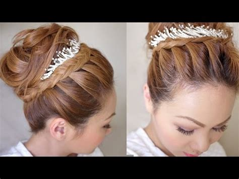 youtube tutorial updo winter formal bridal updo hair tutorial youtube